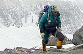 Jake Norton on the North Ridge of Everest