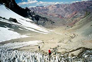 Penetentes on the approach to Aconcagua