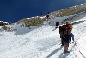 Alan Arnette in the Yellow Band on Everest
