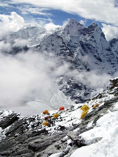 Camp 1 on Ama Dablam (photo: Justin Merle)