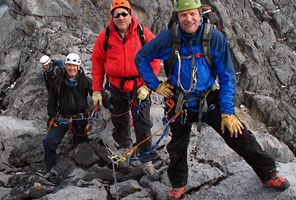 Team climbing Carstensz Pyramid with International Mountain Guides