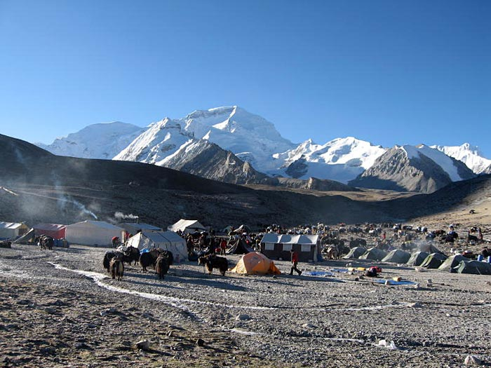 Stock Photo of Cho Oyu Intermediate Camp (Photo: Ang Janbu Sherpa)