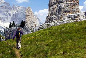 Trekking and climbing the Dolomites of Italy with International Mountain Guides