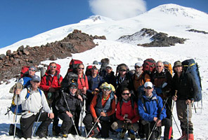 IMG team after summitting Mt. Elbrus