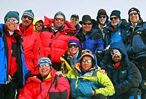 IMG climbers on the summit of Mt. Elbrus