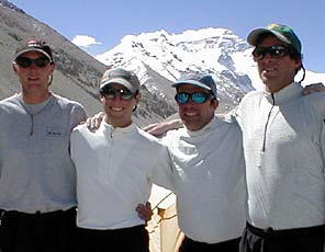 Tap Richards, Jason Tanguay, Andy Politz, and Dave Hahn of International Mountain Guides