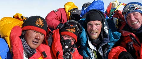 IMG climbers on the summit of Mt. Everest.
