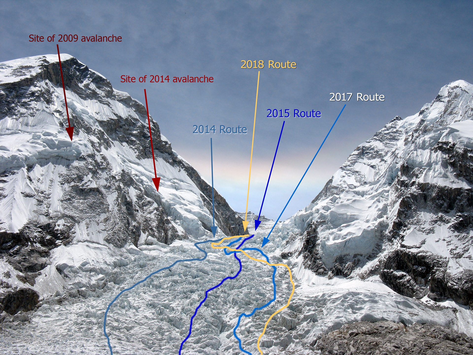 K2 Mountain Map 2018 Mt. Everest...