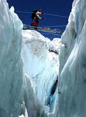 The Khumbu Icefall: