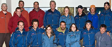 Some of the International Mountain Guides at the IMG office in Ashford, WA at the base of Mt. Rainier