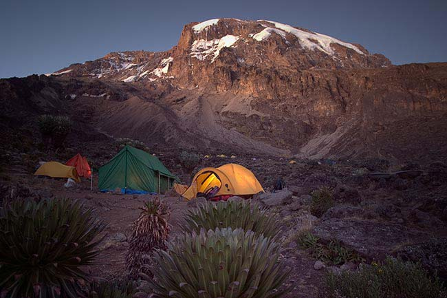 The Baranco camp on Kilimanjaro. (Photo: Adam Angel)