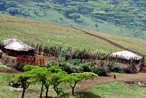 Masai Village on the International Mountain Guides Kilimanjaro African Safari