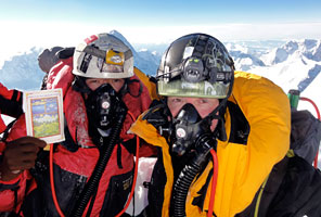 IMG climbers on the summit of Lhotse