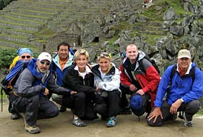 IMG team at the Inca ruins of Machu Picchu