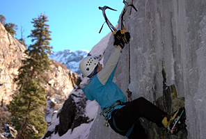 IMG ice climbing in Ouray, Colorado