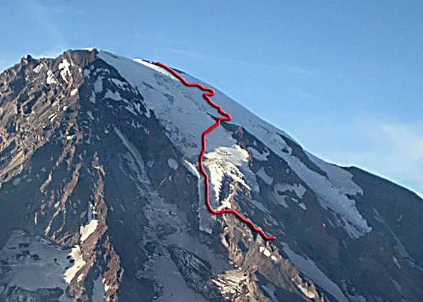 mt Rainier Routes Emmons Glacier mt Rainier Kautz Glacier