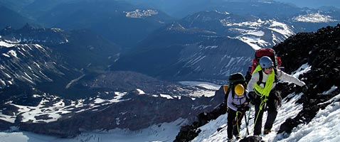 Liberty Ridge Route Climb on Mt Rainier with International Mountain Guides