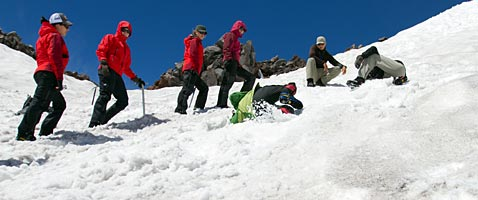 Mountaineering Day School on Mt Rainier with International Mountain Guides