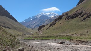 View of the Horcones Valley in Aconcagua