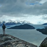 A lookout over Grey Glacier.