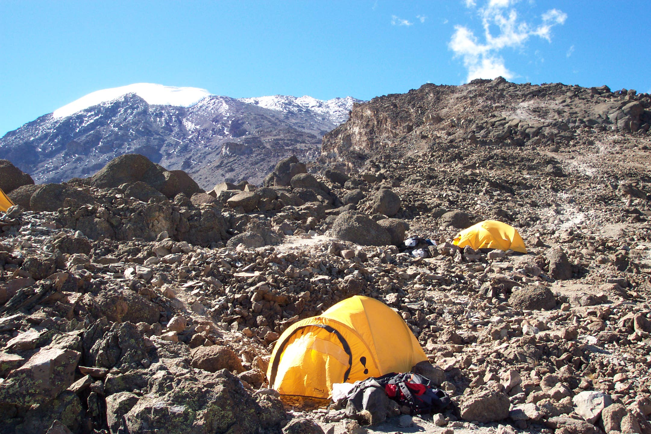 Barafu Camp on Kili  (Photo by Eric Simonson)