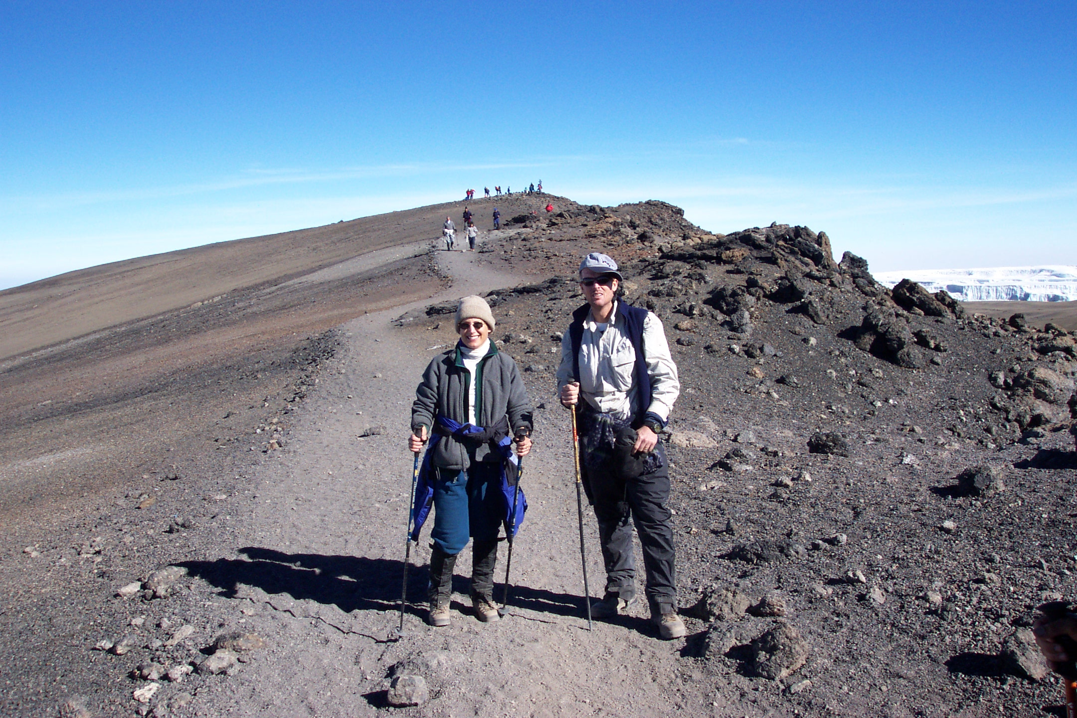 The last hundred yards to Uhuru Peak, the true Summit of Kili  (Eric Simonson)