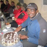 Kumaran's birthday at Cho Oyu ABC.
