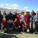 Team at Cho Oyu base camp. (photo: Ang Jangbu)