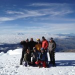 Team on the summit of Cayambe (Photo: Greg Vernovage)