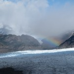 Rainbow over Grey Glacier (Photo: Tye Chapman)
