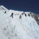 Ama Dablam climbers training at EBC