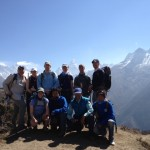 The team with Ama Dablam in the background.