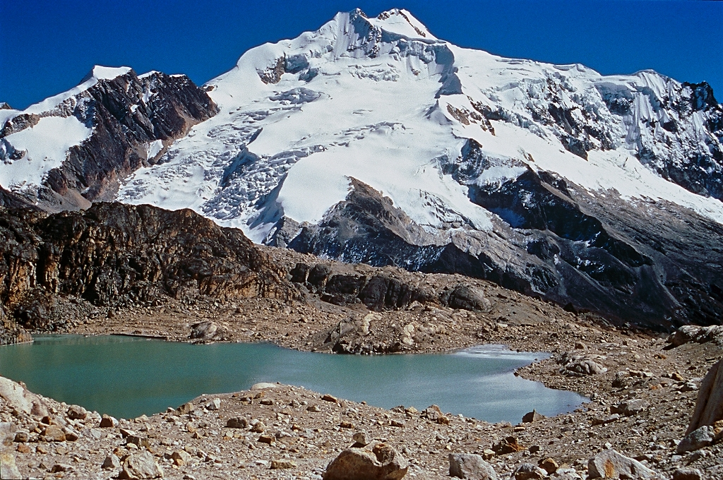 Huayna Potosi from Charquini, Bolivia. (Greg Vernovage)