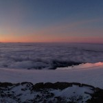 Sunrise taken from Camp Muir