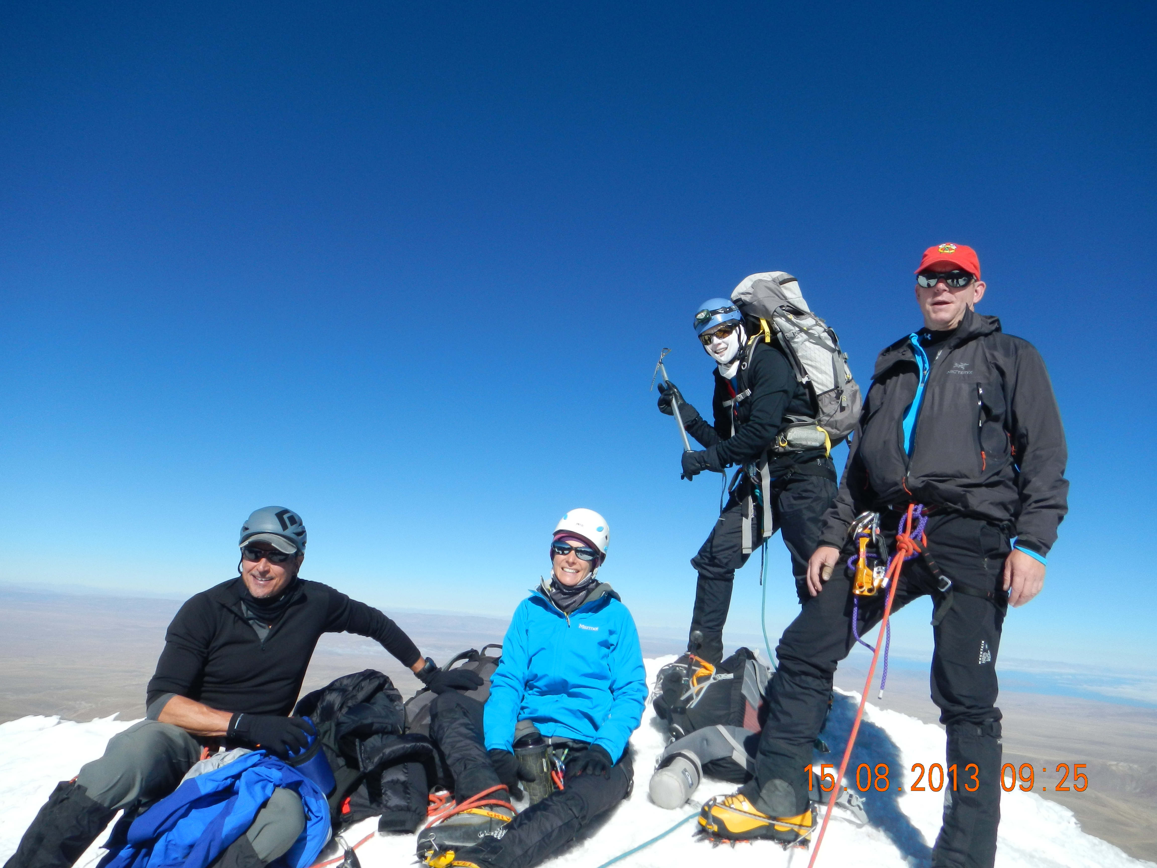 On the summit of Huayna Potosi. (Roberto Gomez)