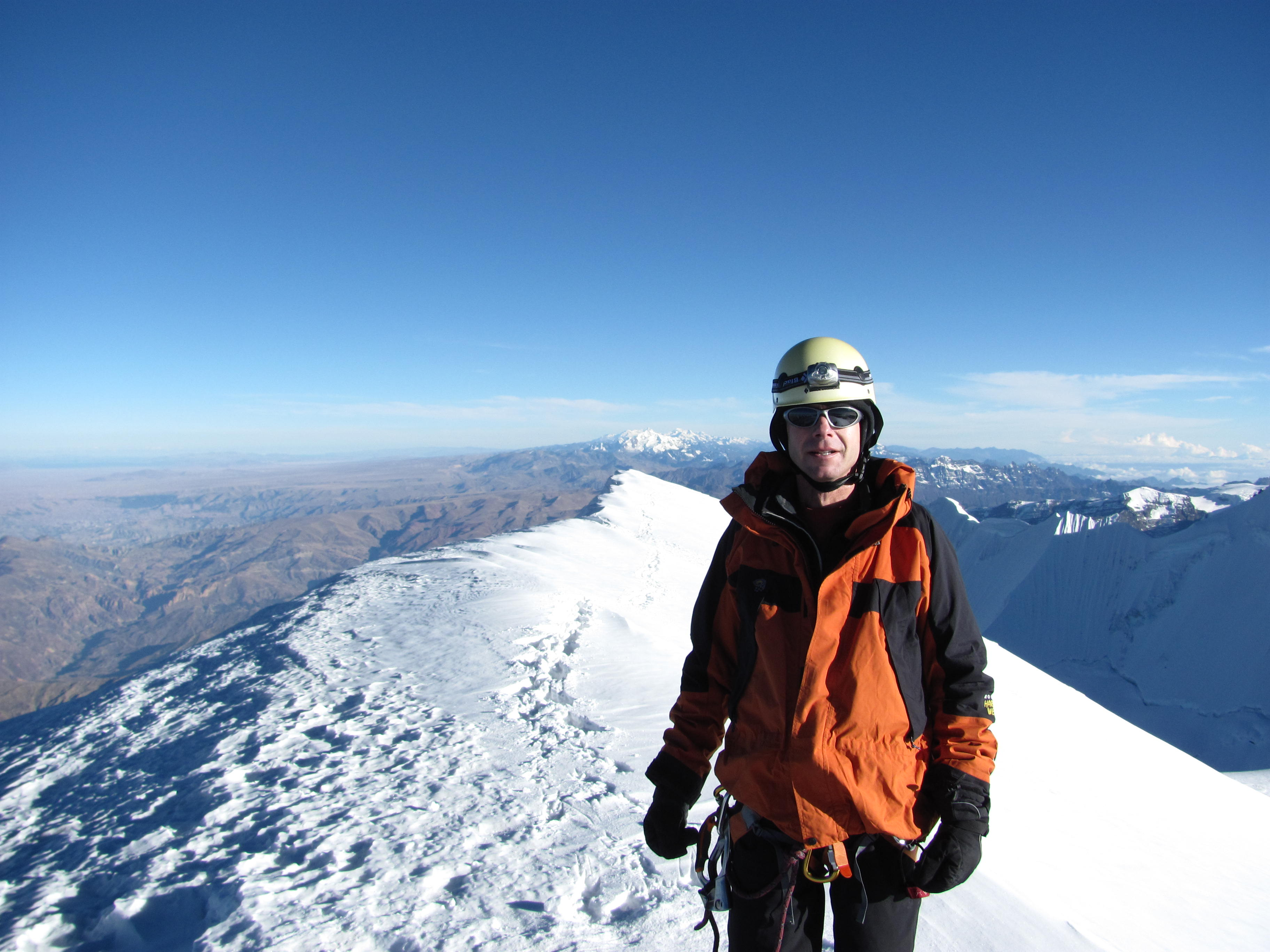 The view  from the summit of Illimani  (Greg Vernovage)