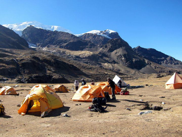 Illimani Base Camp (Viki Tracey)