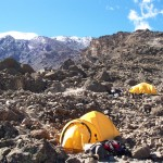 Barafu Camp (15,000 feet) and the route heading up to the summit  (Eric Simonson)