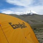 Base Camp tent and Cho Oyu (Ang Jangbu)