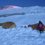 Camp 3 and the view up towards the Yellow Band  (Phunuru Sherpa)