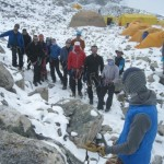 IMG Cho Oyu team doing fixed line training in ABC  (Mike Hamill)