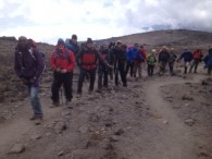 Kili team on the way to Lava Tower  (Chris Meder)