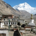 The classic view of the North Face of Everest from Rongbuk Monastary  (Ang Jangbu Sherpa)