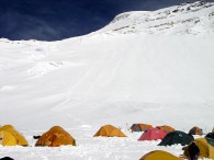 Camp 2 at about 23000 feet on Cho Oyu (Greg Vernovage)