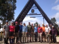 Chris Meder and his team at the Machame Gate about 6,000 ft.  (Chris Meder)