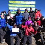 IMG Kilimanjaro team on the summit (photo: Chris Meder)