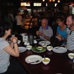 Enjoying a meal in Yangon (Jenni Fogle)