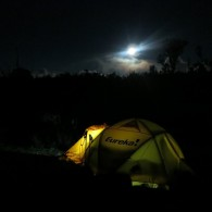 Our high camp the night before summiting. (photo: Anthony Nightingale)