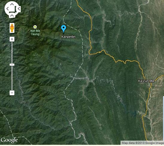 Kanpalet and Nat Ma Taung (Google Earth)