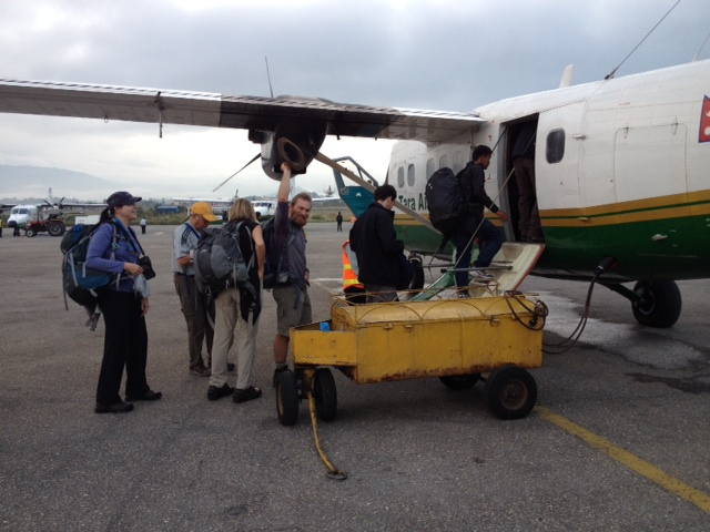 Loading up the plane in Kathmandu for the Lukla flight (Erica Engle)